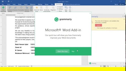Grammarly for MS Office 6.8.236 Crack & License Key Free [Torrent]